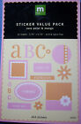 New STICKER VALUE PACK *You Choose Color* Letters Thanks Love MAKING MEMORIES