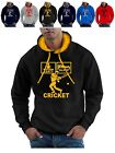 Eat Sleep Cricket Hoodie with Pads Helmet Gloves Bat plus Ball hoody pullover