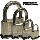 Federal Weather Resistant Waterproof Stainless Steel Shackle Brass Padlock NPS