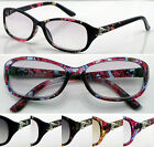 SL435 Light tinted Lens Reading Glasses/Metal Detail+50+75+1+100+1.25+1.5+1.75+2