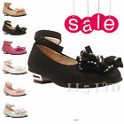 Girls kids Glitter Velcro Wedding Bridesmaid Party Metal Heels Shoes Sz 7-3