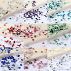 4000pcs Faceted Resin Rhinestone Flatback Multiple Color Crystal 2mm 10 Colours