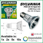 Packs of Sylvania Hi Spot 63 Par 20 50W ES E27 25° halogen reflector bulb 21128