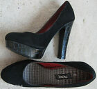 NEXT Black Suede Effect High Heel Office Party Shoes (New) sizes 5  £38.00