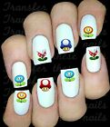 30 MARIO ITEMS NAIL ART DECALS STICKERS /TRANSFERS PARTY FAVORS LOOT BAGS