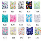 AlvaBaby Unisex  Colorful Print Reusable Cloth Diaper Pocket Nappy+1Insert