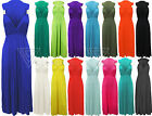 Ladies Sleeveless Spring Coil Maxi Dress Women Plain Long Maxi Skirt Grecian