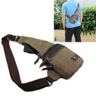 New Men's Canvas Casual Messenger Backpack Unbalance Sling Chest Sport Bag Purse