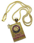 "NEW ICED OUT BAKING SODA PENDANT & 4mm/36"" FRANCO CHAIN HIP HOP NECKLACE - MP541"