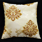 HC106a Reddish Brown Gold threads Jacquard Cushion Cover/Pillow Case*Custom Size