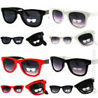 Vintage Classic Compact Fold-ing Sunglasses Retro Style Black Men's Women's New
