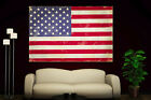 Canvas Giclee Prints Art Vintage American Flag Photo Colorful Print Decor Red 2