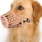 Brand New Adjustable Soft Safety Plastic Cage Muzzle for Dog Puppy 7 Size