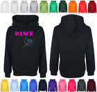Add a name 4 FREE Childrens Diamante Dance Crazy Hooded top Bling Hoodie