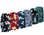 Mens New Summer Floral Print Beach Shorts Surf Board Swim Shorts S - XXL