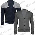 Mens Thin Knitted Weave Knit Long Sleeves Front Buttons Coat Sweater Cardigan