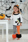 Mud Pie Halloween Dot Stripe Witch Tunic And Legging Set 3M-5T #111A046 NWT
