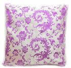 Bf124a Light Purple Aster Silver Brocade Cushion Cover/Pillow Case*Custom Size