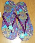 BN HAND SPARKLY GLITTERY FLIP FLOP SANDELS WITH CLIP ON ROSES