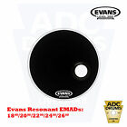 "Evans EMAD Resonant Drum Skin Ported Black Kick Head: 18"" to 26"" (Tone Control)"