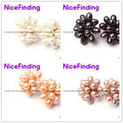 5-6mmx7-8mm Freshwater Pearl Silver Studs Fashion Earrings Jewelry 4 Color Pick