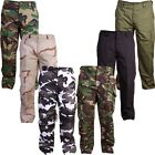 ARMY COMBAT TROUSERS RIPSTOP 30-44 MENS CAMO CARGO PANTS BIKER MILITARY HIKING