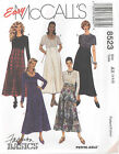 McCall's 8523  Misses' Dress   Sewing Pattern