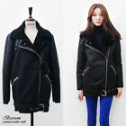 NWT Women's oversized faux shearling fur jacket loose fit coat 4 colors sz S-M