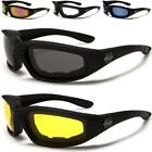 NEW BLACK CHOPPERS GOGGLES SUNGLASSES MENS LADIES BIKERS MOTORCYCLE DRIVING
