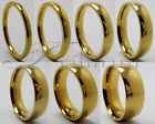 Men & Women Gold Plated Tungsten Carbide Wedding Band Ring - Size 4 to 14.5