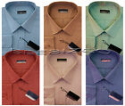 "New Mens Long Sleeve Poly Cotton Plain Shirt 15"" - 18"" By Tom Hagan"