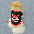 Small Pet Dog Autumn Paw Print Coats Sweater Cotton Hoodies Clothes with Hat