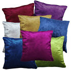 Shimmer Crushed Pattern Plain Velvet Style Cushion Cover/Pillow Case Custom Size