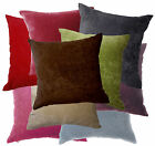 Plain Color Soft Cotton Blend Velvet Style Cushion Cover/Pillow Case Custom Size