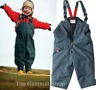 TOGZ  WATERPROOF WARM & DRY  FLEECE LINED DUNGAREES AGES  12M - 10YRS