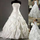 *Stock*white/ivory wedding dress/bride gown/Party Dress Size 6,8,10,12,14,16 ,18