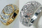 2 Color Gold Plated Crystal Aureate Men's And WOMEN'S Lovers Ring