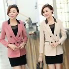 Womens Dacron Splicing OL Slim Lapel Suits Blazer Jacket Coat Outerwear Tops New