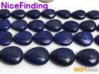 "Drop Drip Blue Lapis Lazuli Stone Jewelry Making Loose Beads Gemstone 15""In Bulk"