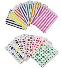 60 x CANDY STRIPE OR POLKA DOT PAPER SWEET FAVOUR BUFFET CAKE BAGS - 7x9 INCHES