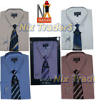 779-Plain Mens Boxed Shirts &Tie Set Office Formal Businessman Style By TomHagan
