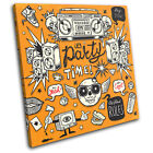 """""""It's Party Time"""" Illustration SINGLE CANVAS WALL ART Picture Print VA"""