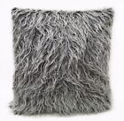 Fm724a Gray White Shiny Faux Cow Long Fur Cushion Cover/Pillow Case*Custom Size*