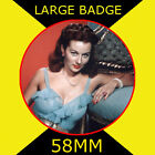 Rhonda Fleming 2 - 58MM - FRIDGE MAGNET OR BADGE OR HANDBAG MIRROR #CD1245