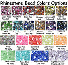 Внешний вид - 1000 Crystal Flat Back Acrylic AB / Jelly Resin Rhinestones Gems 2mm 3mm 4mm 5mm