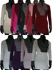 NEW Ladies Womens Knitwear Full Sleeve V Neck Jumper one size fits 8 to 16