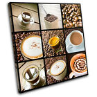 Coffee shop Food Kitchen SINGLE CANVAS WALL ART Picture Print VA