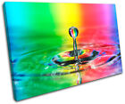 Rainbow Droplet Rainbow Abstract SINGLE CANVAS WALL ART Picture Print VA