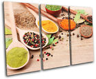 Spices Food Kitchen TREBLE CANVAS WALL ART Picture Print VA