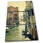 Venice shabby chic Vintage TREBLE CANVAS WALL ART Picture Print VA